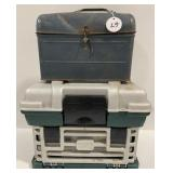 Plane Tackle Box with Contents and Metal Lunch