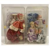 Lot of 2 Doll Containers