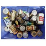 Misc lot of vintage beer and wine cans.