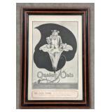 Vintage Framed Quaker Oats Advertisement,