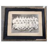 Vintage Framed military group photo. Measures