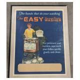 Vintage Framed Easy Washer advertisement.