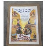 """1980 Levi Strauss framed poster, """"The Legend of"""