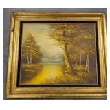 Oil on canvas framed painting signed by artist