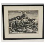 "Thomas Hart Benton ""Planting"" Signed Lithograph"
