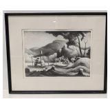 "Thomas Hart Benton ""Sorgum Mill"" Signed Lithograph"