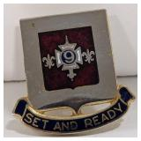 """Military pin, Set And Ready, 1"""""""