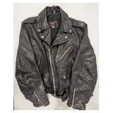 Real Leather jacket. Size 44. Has wear. Aims