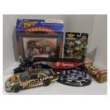 Flat of Nascar collectibles
