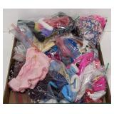 Large lot of Barbie clothes and some accessories