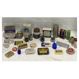 Lot of vintage medicine containers