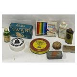 Lot of Vintage toiletries containers, vintage