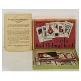 Vintage Little red riding hood card game played