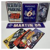 Lot of Plastic NASCAR Sign and License Plates