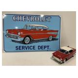 1957 Chevrolet Bel Air Service Dept. Sign and