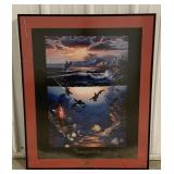 "Framed ""Tranquility"" Print measuring 27"" x 33"