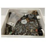 Lot of Miscellaneous Nuts, Bolts, Nails, and more
