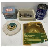 Lot of Containers of Nails and Grinding Wheels