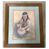 Framed print of Indian girl by: Majorie M.