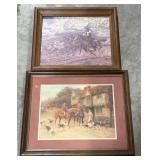 Framed Western prints. Paying 1 times the