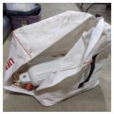Zip up storage bag with boat buoys