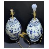 Oriental inspired lamps. Pay 1 times the quantity