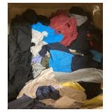 Box lot of shirt rags