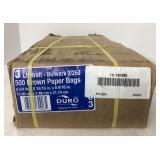 (2) Pack 3lb 500ct Brown Paper Bags