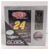 Win raft racing #24 team desk clock measuring 6