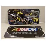 2 plastic license  plates , NASCAR, the   Jimmy