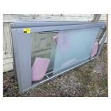 2 large glass doors height 95 x width  1 1/2 x