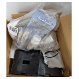 Box of PH Strips and Telephone Wall Mounts