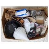 Various items lot Including funnel, tape measure