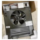 Fan forced electric wall heater