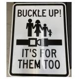 """24""""x18""""  Buckle up it"""