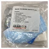 Grainger back to work safety kit Gloves Face
