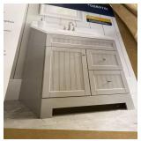 Style selection Vanity with top  Gray finish