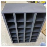 """Metal cabinet with dividers  34"""" high"""