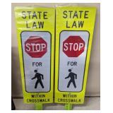 Reflective Pedestrian Crossing Sign, 3