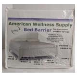 "American Wellness Supply Bed Barrier, Queen 9""."
