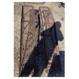 Large metal ramps