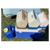 Lot of assorted coolers