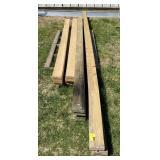 Lot of assorted wood planks longest 193 ft