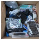 Various box lot items including rca portable cd