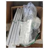 Various items box Including furnace air filter,