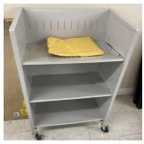 """Metal shelf with dividers  40"""" high x 26"""" wide x"""