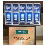 Fairway Wood Golf Tees & Foremost Golf Balls