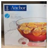 Anchor Punch Bowl Set w/ Ladle