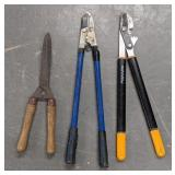 Branch cutter and hand hedge trimmer lot
