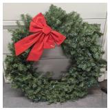 """Christmas wreath with lights measuring 34"""""""